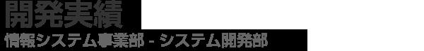 開発実績 - 情報システム事業部